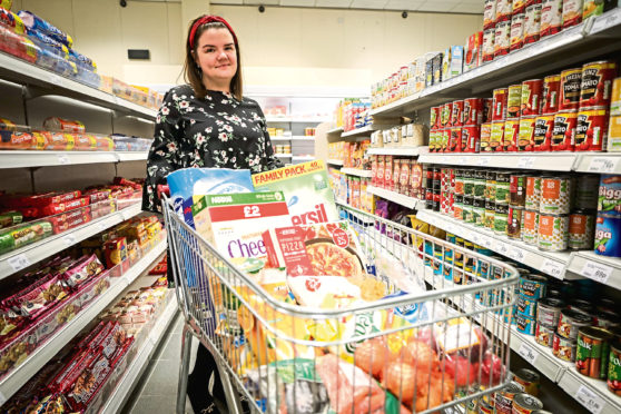 You have the chance to fill your shopping trolley for free.