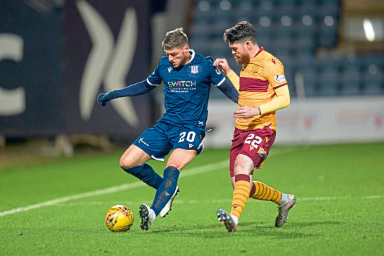 Midfielder Ross Callachan made his Dundee debut in the 3-0 Scottish Cup fourth-round defeat to Motherwell at Dens Park last weekend.