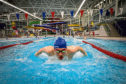 Jack Milne training at the Olympia swimming pool in Dundee.