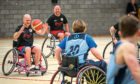 The wheelchair basketball game in action on January 25.