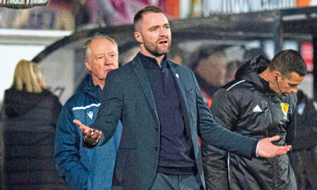 James McPake's Dundee face Hearts on the opening day of the 2020/21 season.