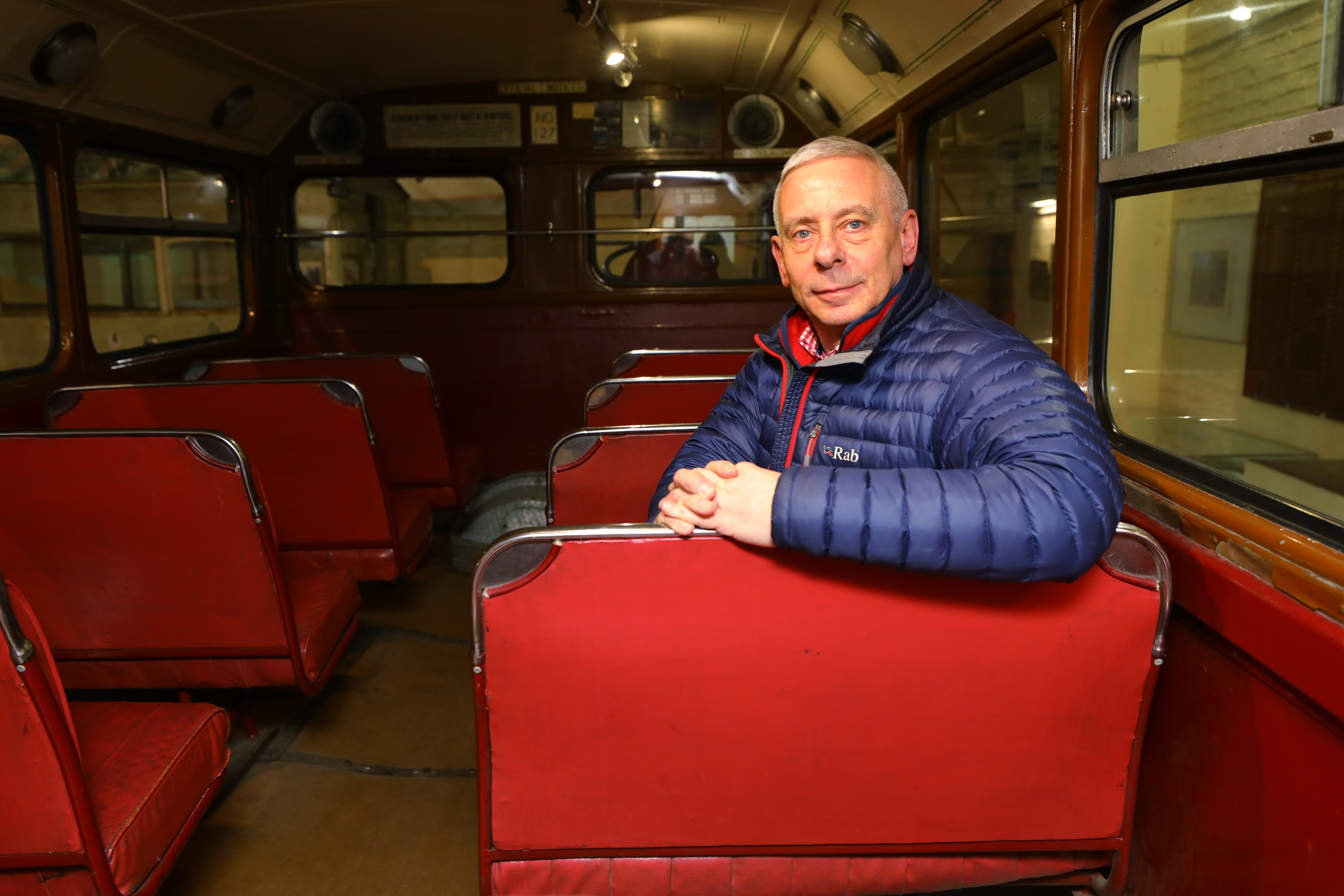 Derek, who is a trustee at the museum, has just finished a book on Dundee buses.