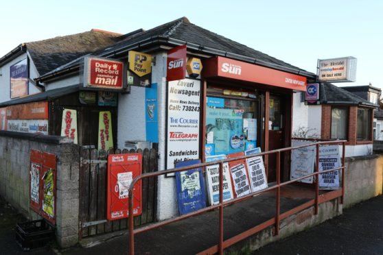 The Zaveri's newsagent in Abercrombie Street, the new location for the Barnhill Post Office.