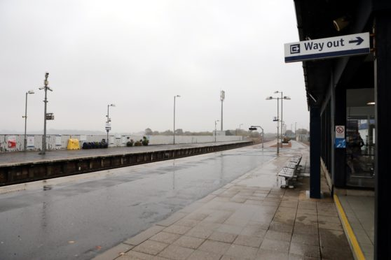 The crew was stood down after it turned out that the man had been spotted at Montrose railway station.