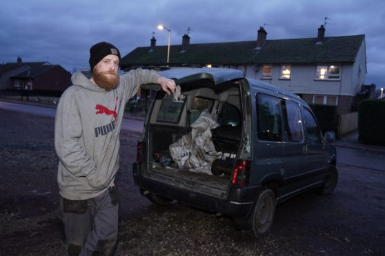 Liam Cunningham had all his gardening tools stolen out the back of his work van.