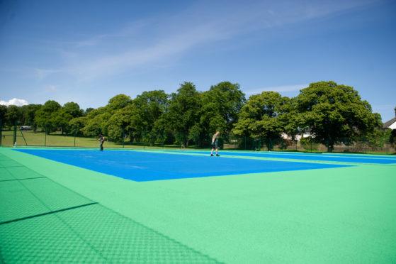 Baxter Park tennis courts.
