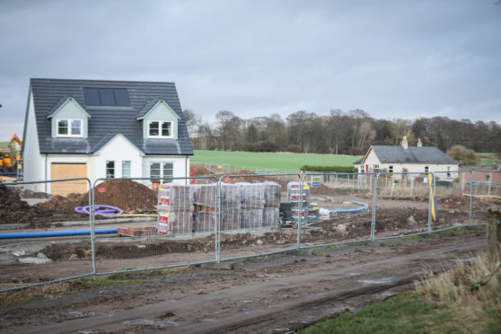 Work under way at Balgillo Heights, being built by Kirkwood Homes in the same area as the proposed Linlathen Village development.