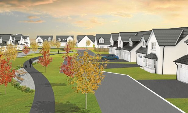 An artist impression of how the new proposed housing development would look in Broughty Ferry.