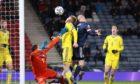 Steven Naismith in action for Scotland against Kazakhstan.