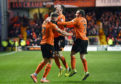 Louis Appere (left) celebrates after equalising.