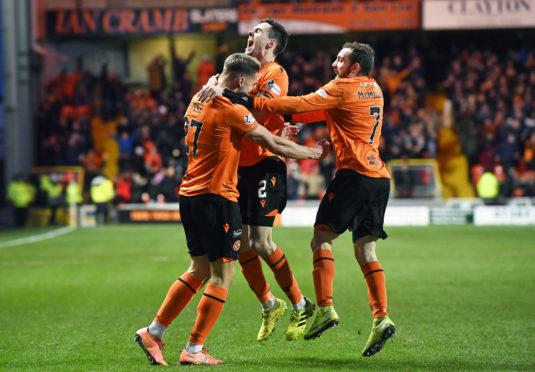 Louis Appere (left) celebrates after equalising.