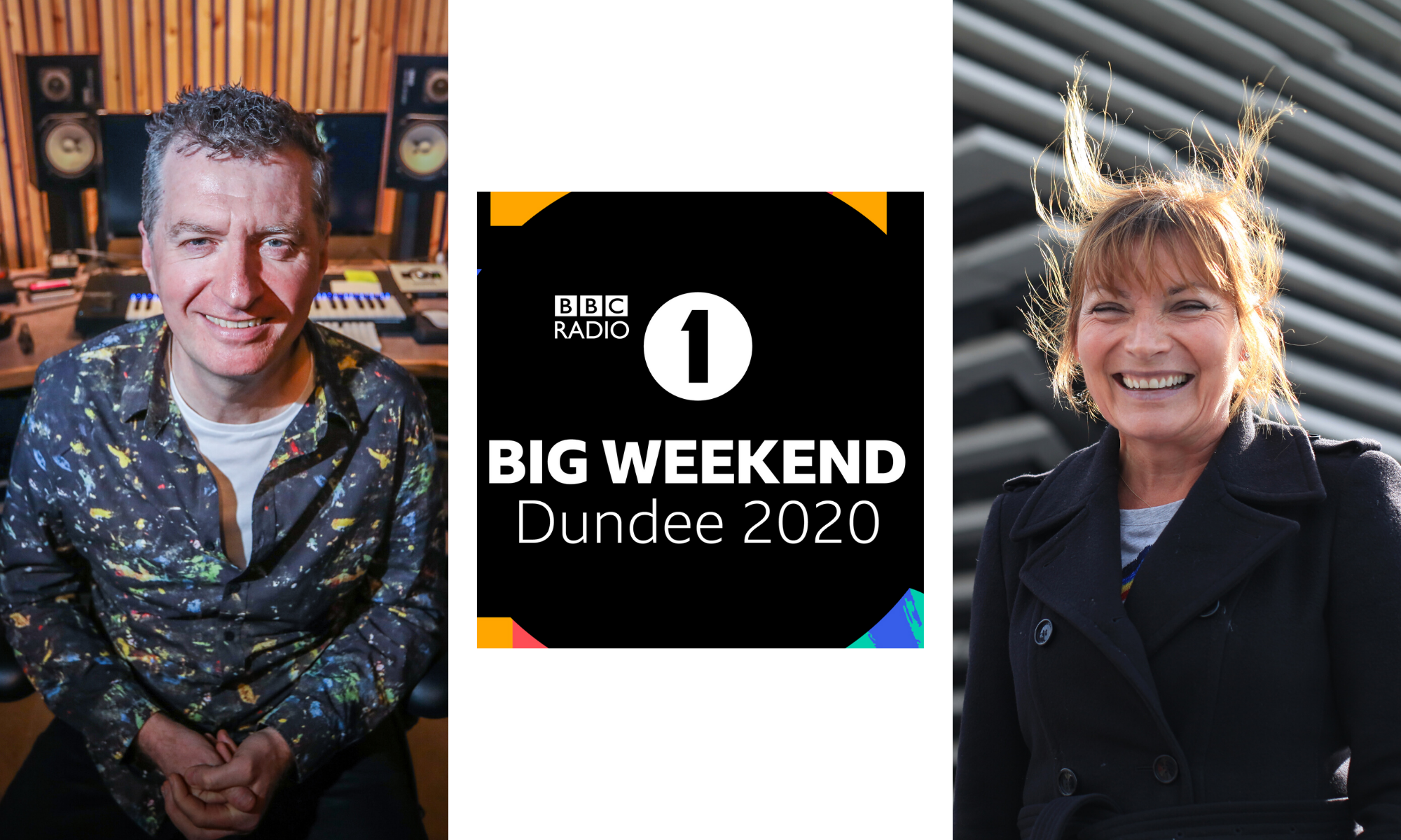 Simple Minds bassist Ged Grimes and Lorraine Kelly are among those praising the Big Weekend announcement.