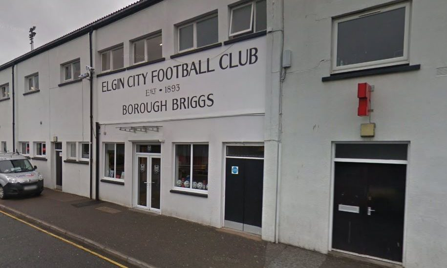 Borough Briggs, home of Elgin City FC.