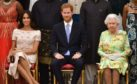 Meghan Markle, Prince Harry and The Queen.