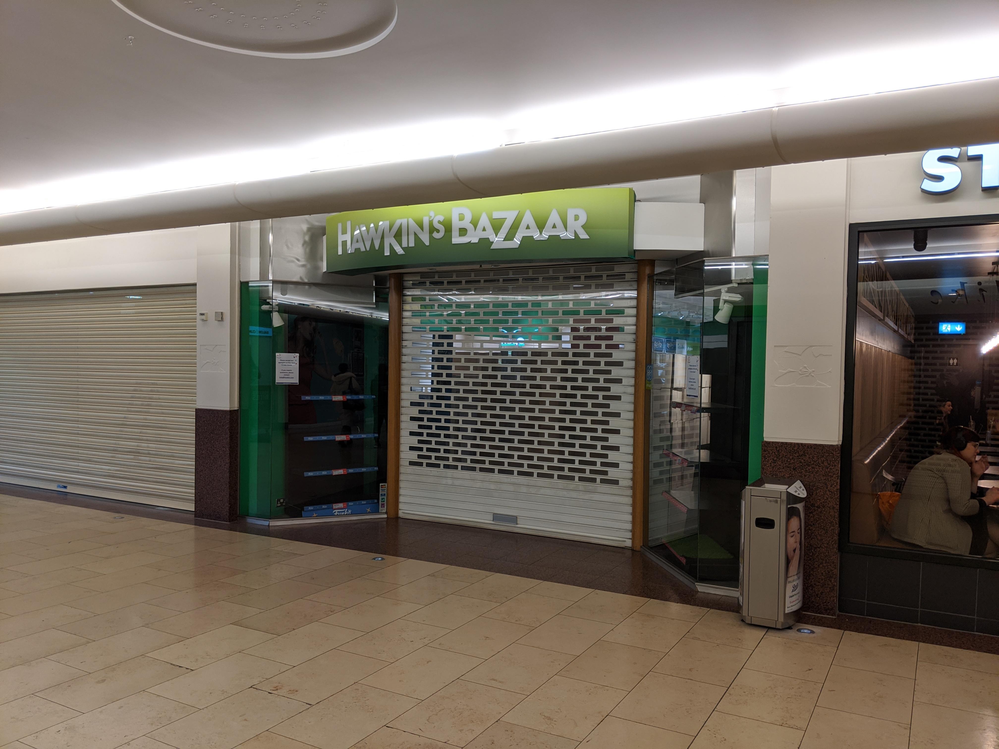 Hawkin's Bazaar, Overgate.