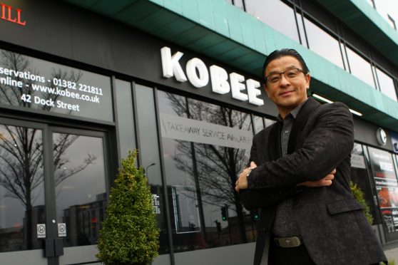 Steve Chow, owner of the Kobee restaurant in Dundee.