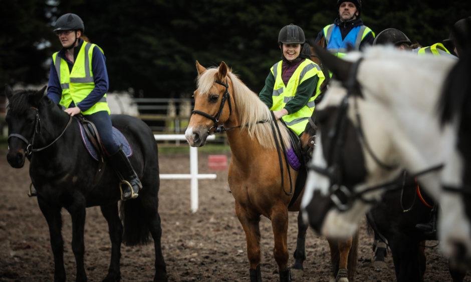 Sara Ahmed, 13, on her horse Ella.