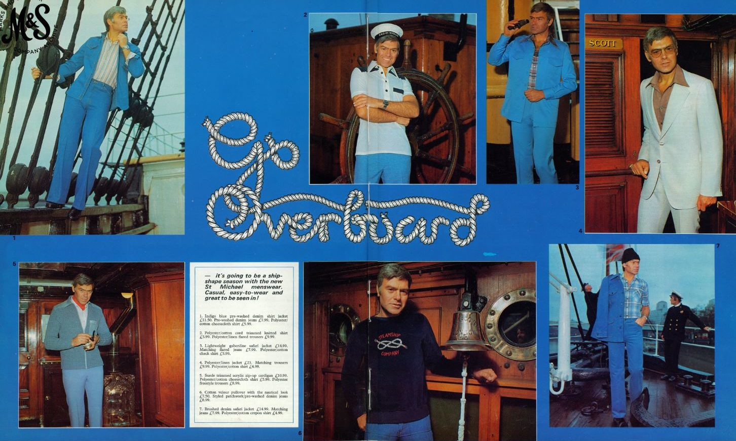 The advertising feature from 1977, shot on board RRS Discovery.