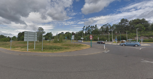 The proposed site of the drive-throughs on Riverside Avenue.