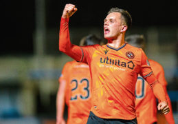 Shankland is jousting with Scotland's top strikers for the Football Writers' Player of the Year award.