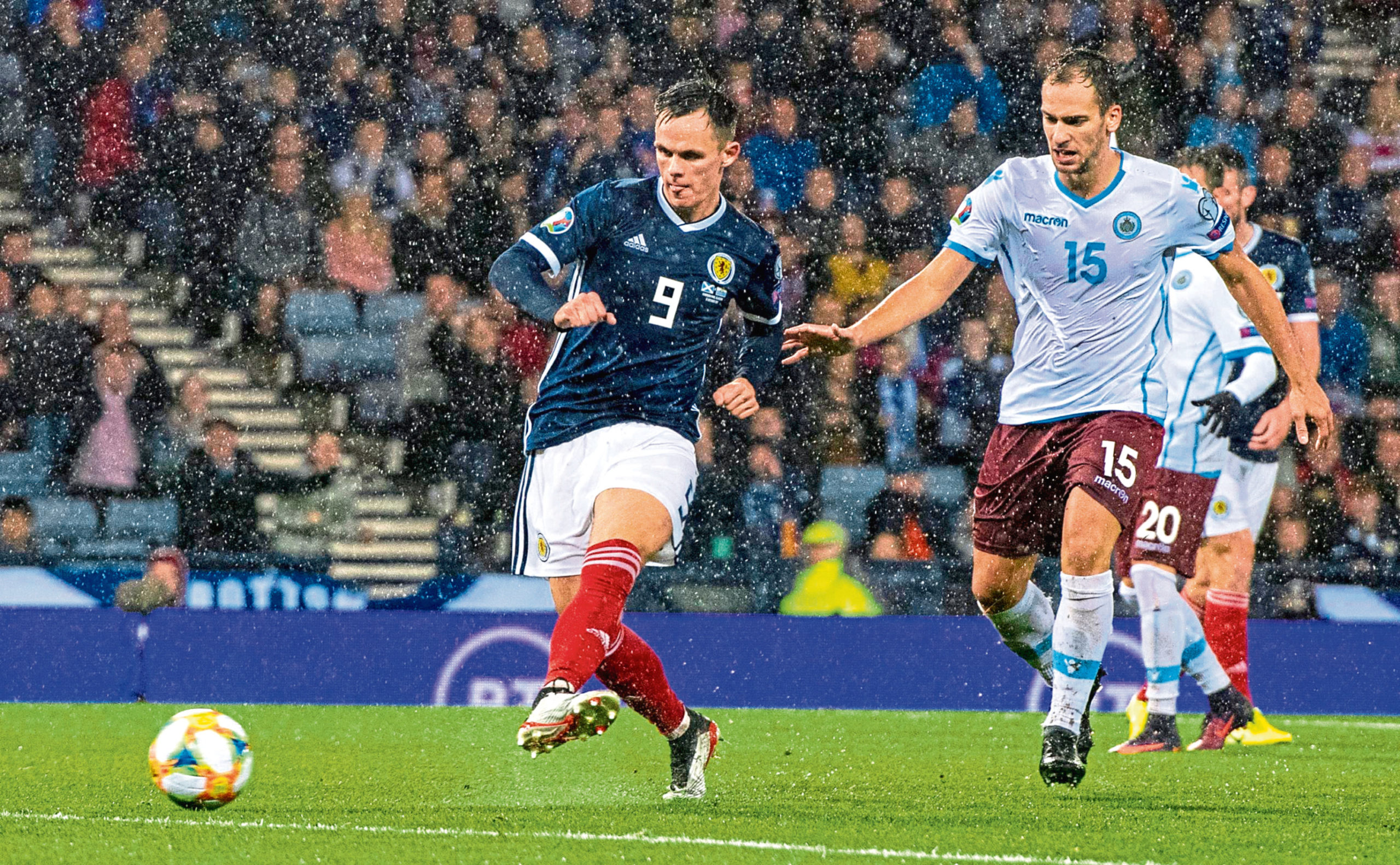 Shankland netted for Scotland during his second appearance for the national side.