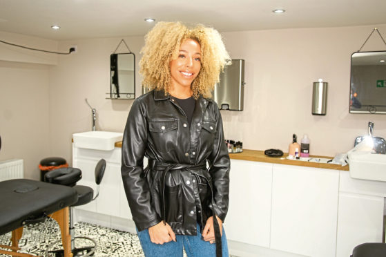 Janine Wallace in her salon on Perth Road.