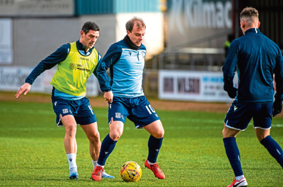 Midfielder Paul McGowan was pressed into action as a striker against Partick Thistle last week and delighted manager James McPake with his display.
