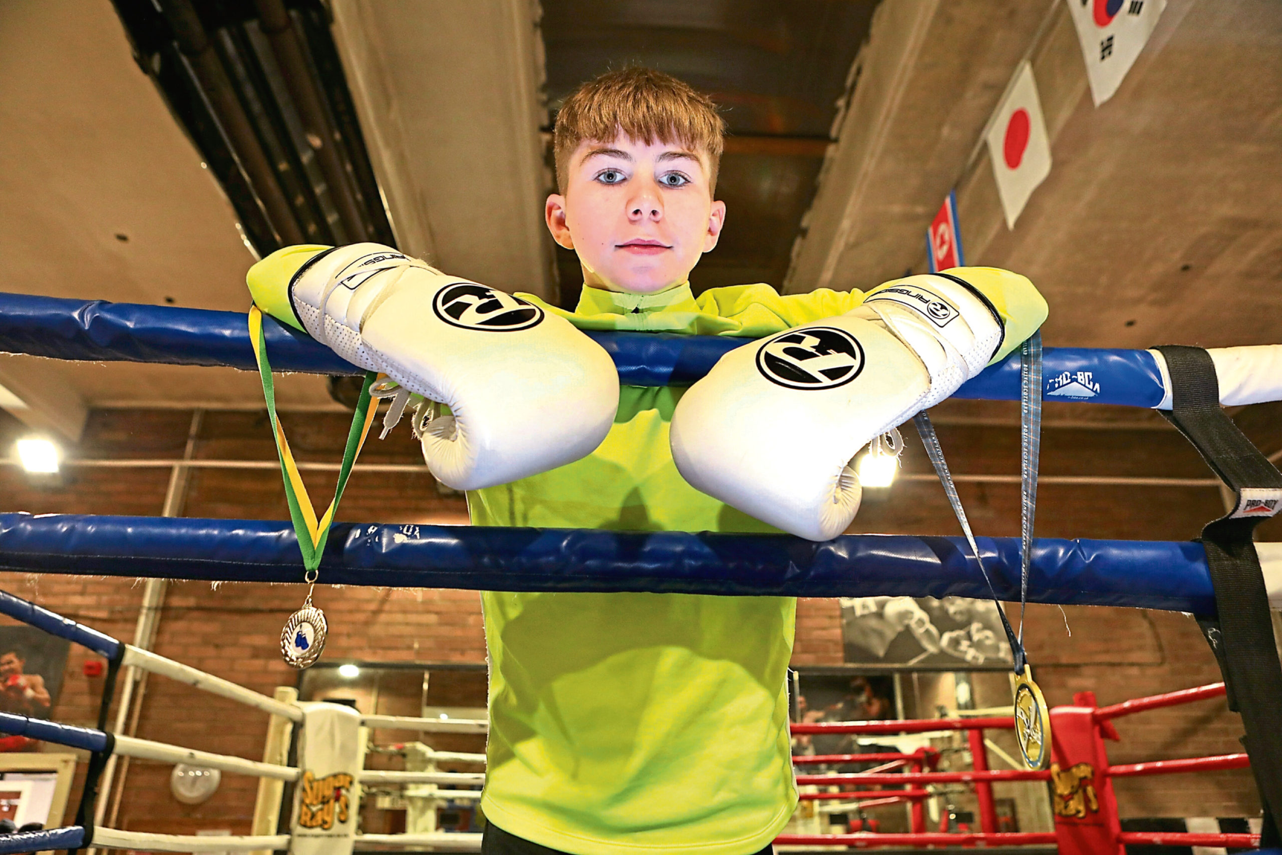 "Luca Flynn who won the ""Scottish Intermediate Championships""."