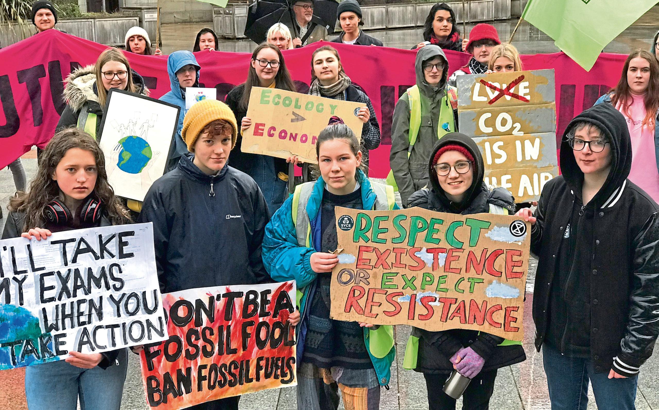 Front row shows strikers Hannah Perry, 16, Aisla Marama, 15, Hannah MacKay, 16, Elsie MacDonald, 16 and Katie Bath, 14.