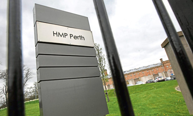 The entrance to HMP Perth.
