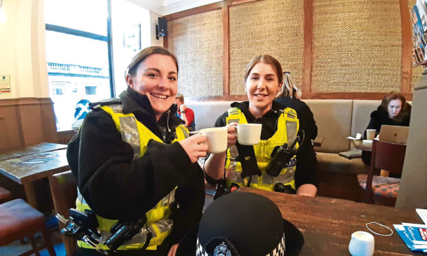 Linzi McAlpine and Ashley Thom, of the city centre community team.