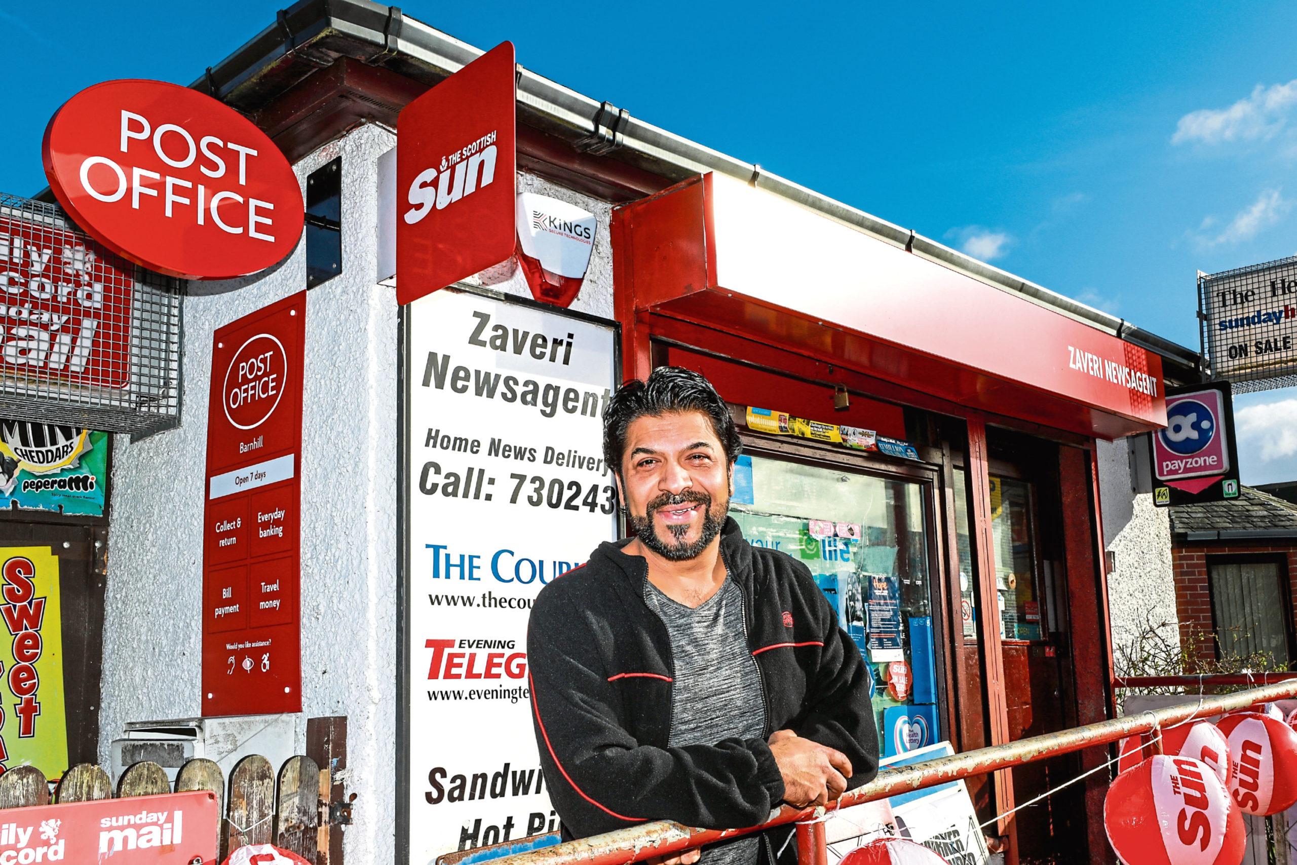 Naeem Zaveri at the Barnhill Post Office.