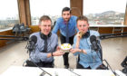Graeme, George and Calum with the cake.