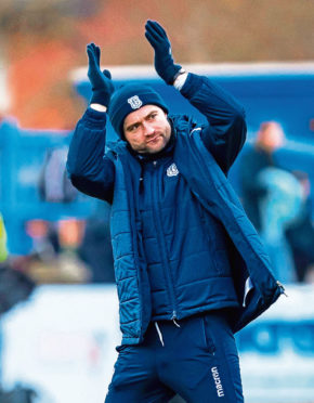 James McPake's Dundee players have been given individual programmes during shutdown