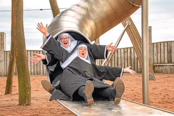 The nuns are having some fun ahead of the Carnoustie show.