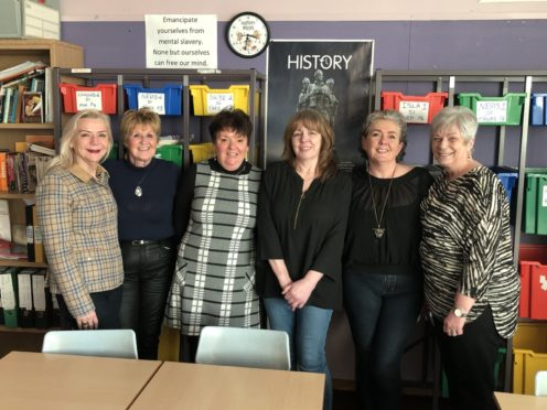 Six friends have reunited ahead of a school's 50th anniversary celebrations.