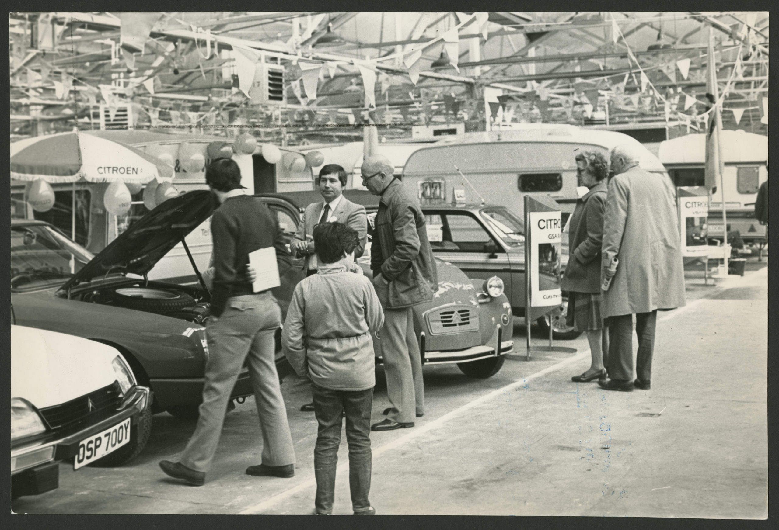 Visitors inspect models at the annual Dundee Motor Show. 21st May 1983.