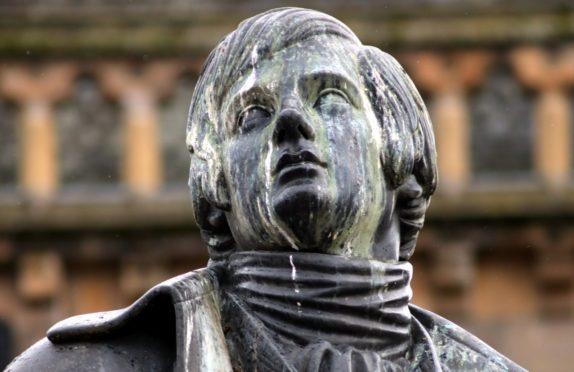 The Rabbie Burns statue.