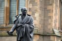 The statue of George Kinloch, which campaigners have called to be toppled because of his ties to the Slave Trade.