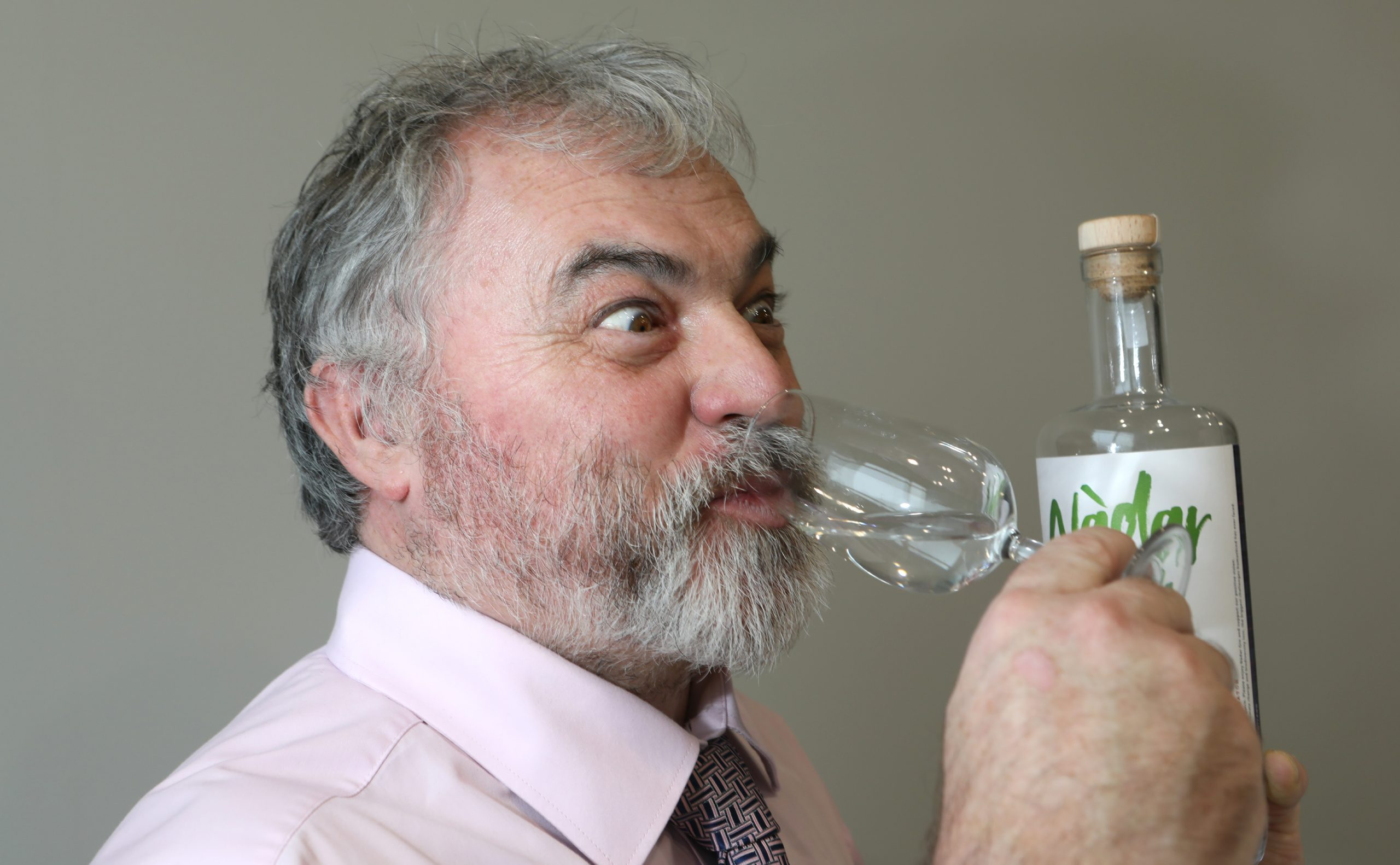 Grin and tonic. Reporter Kenny MacDonald samples the new climate positive gin made from peas.
