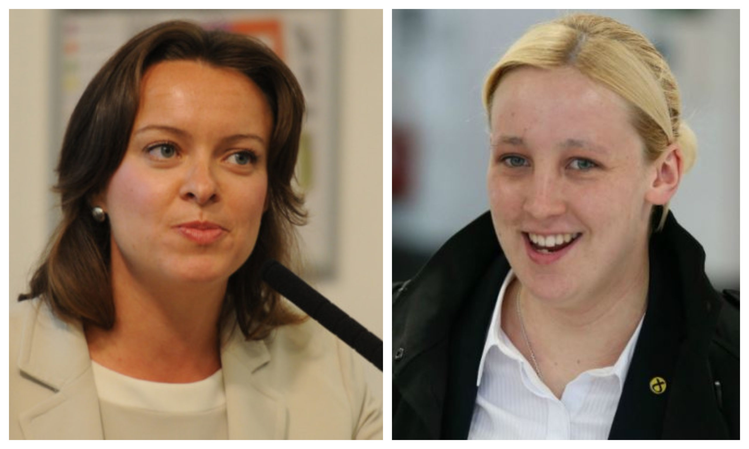 Jenny Marra, left, and Mhairi Black.