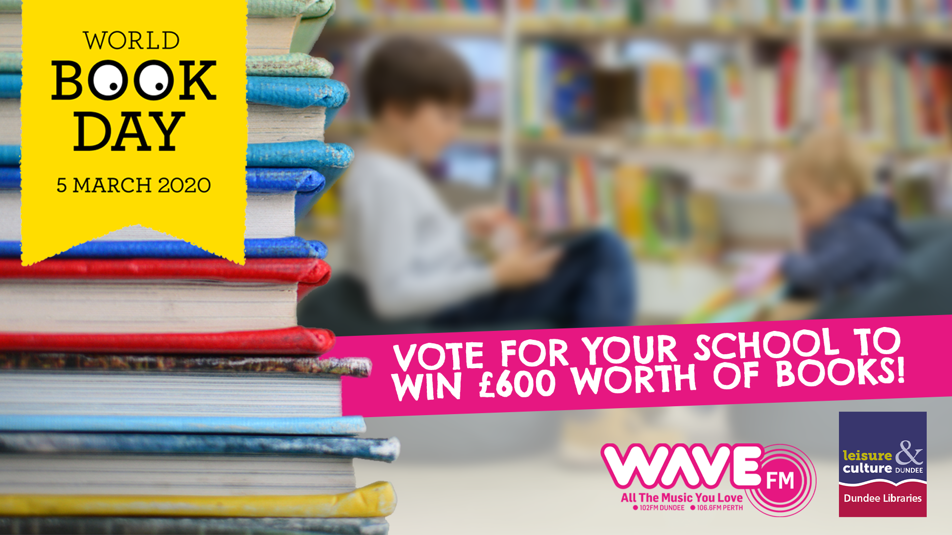 Chance to win hundreds of pounds worth of books for your Dundee or Perth primary thanks to Wave FM - Evening Telegraph
