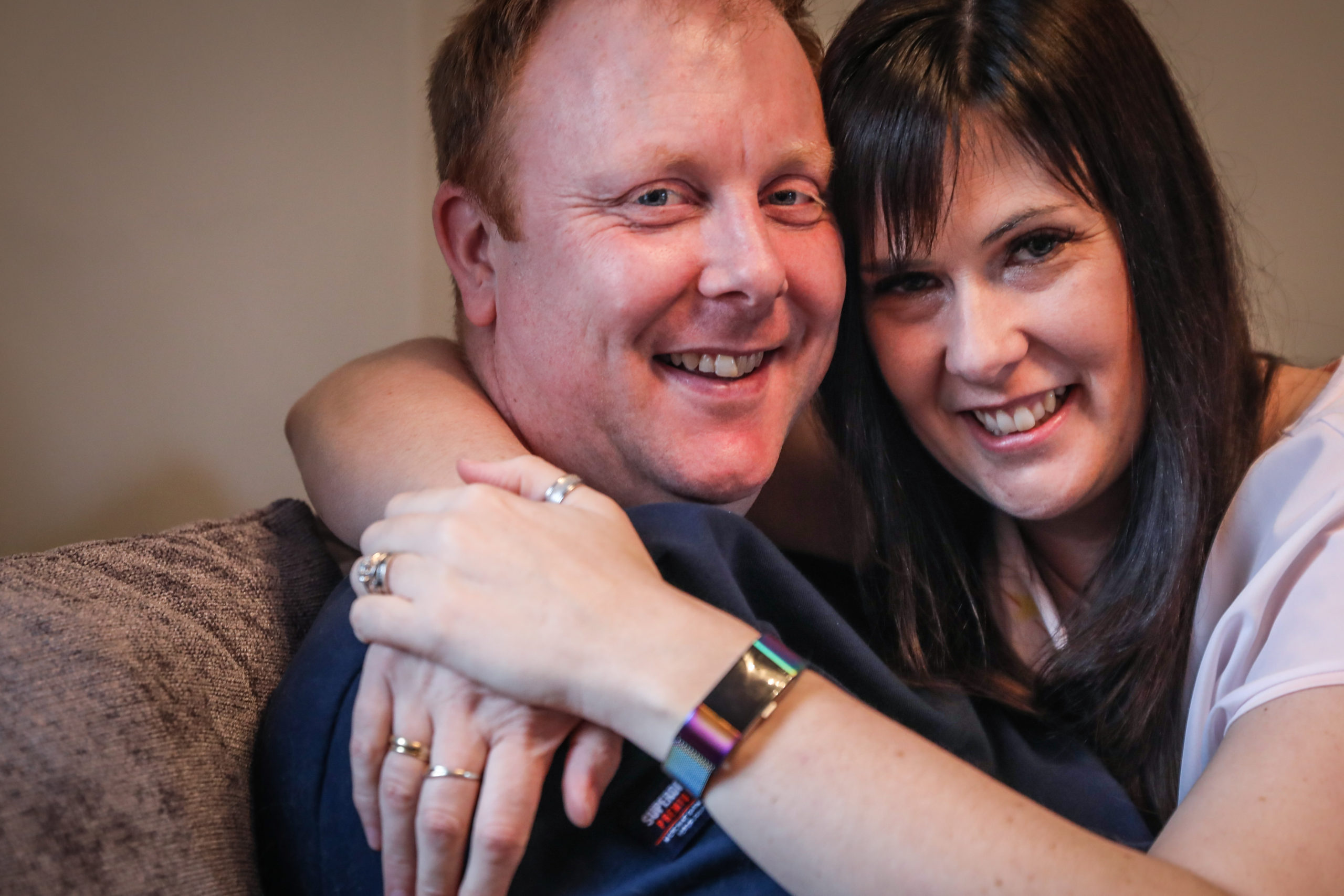 Christine proposed to Alan Kirk live on camera for STV.