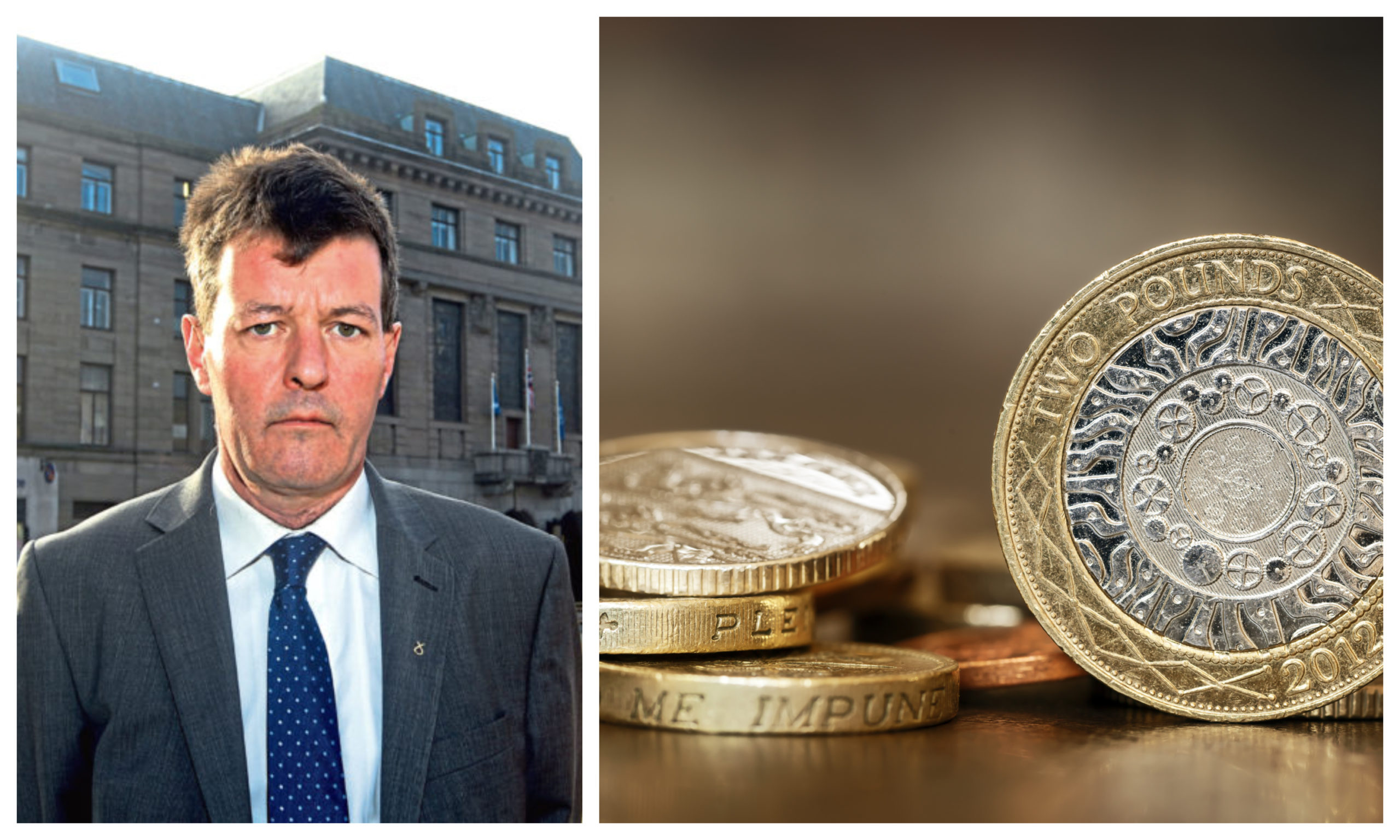 Councillor Willie Sawers has admitted the local authority has a difficult financial challenge ahead.