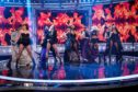 The Pussycat Dolls performing on Ant and Dec's Saturday Night Takeaway on February 22.