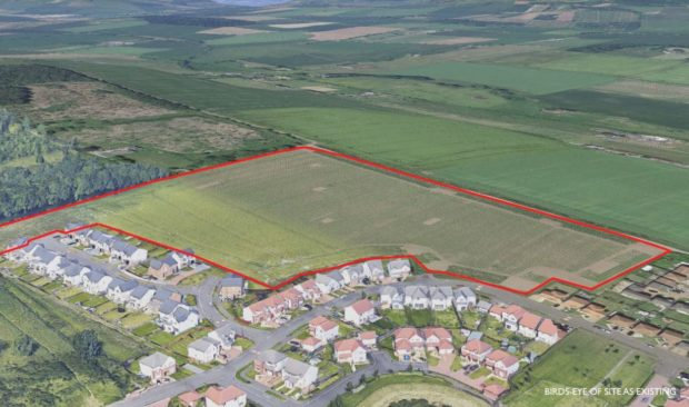 The proposed site of 120 homes at Baldragon Farm in the north of Dundee.