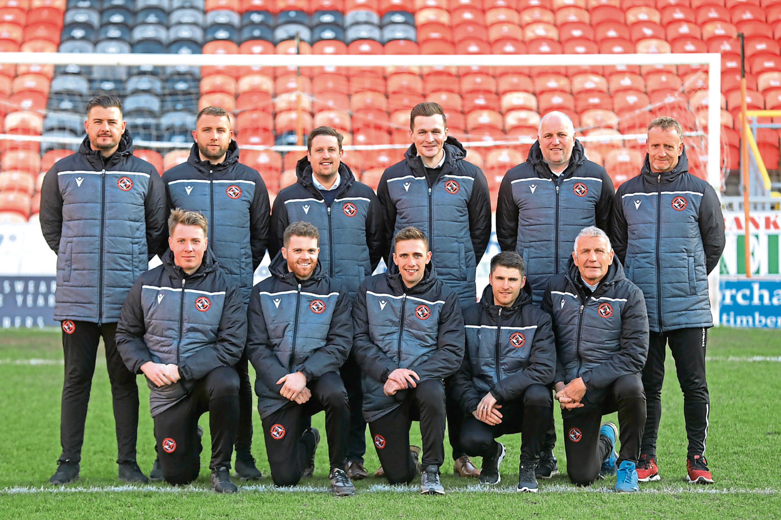 Andy Payne and Thomas Courts are a part of the Dundee United academy staff (left).