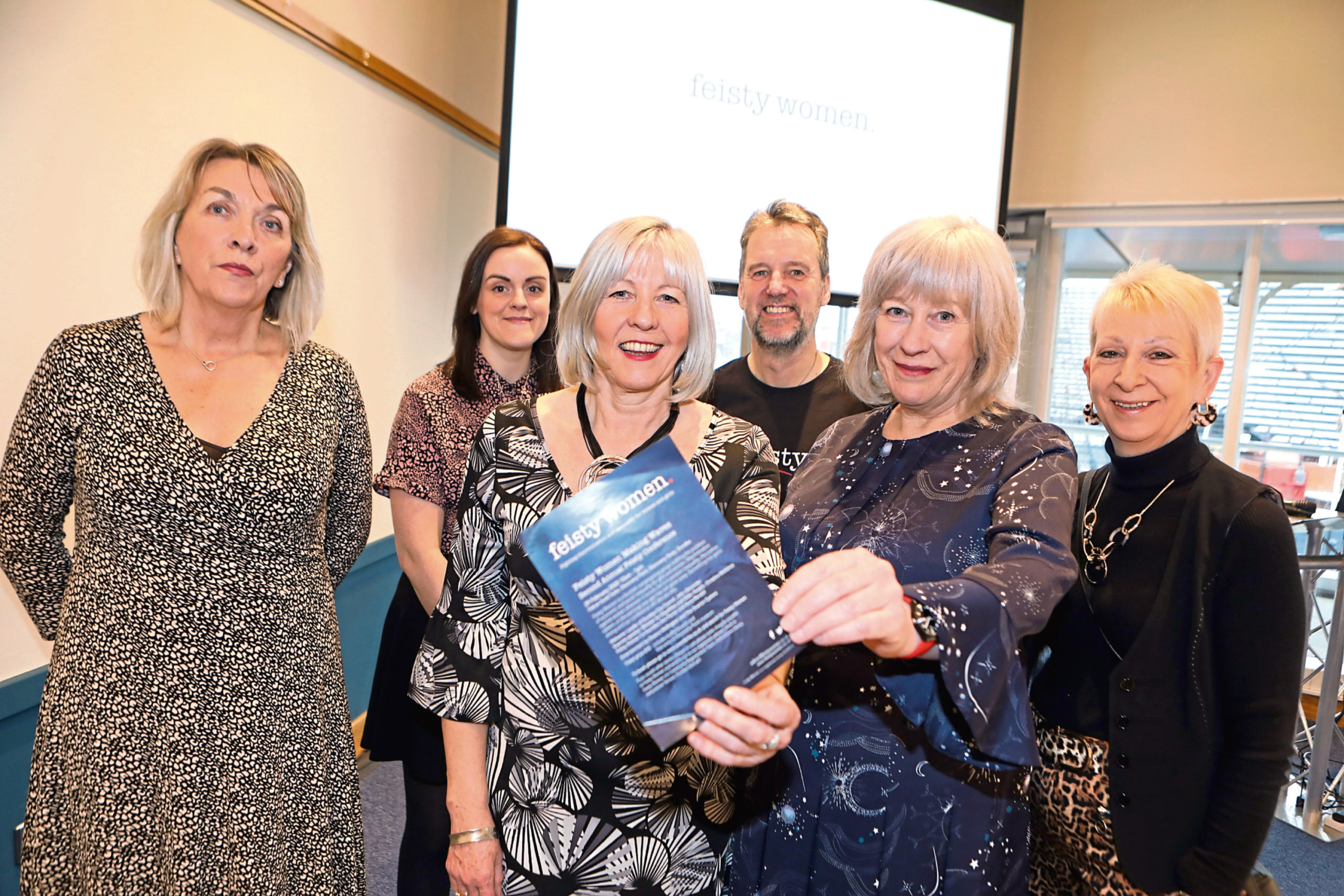 Picture shows committee members and speakers, from left: Elizabeth Shearer, Sam Walker, Anne Rendall, Richard Gourlay, Ann Porter and Irene Duncan.