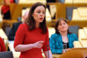 Kate Forbes MSP as she delivers the Scottish Budget 2020/21.