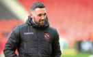 Attacker Nicky Clark is back in training for Dundee United, working with the ball at his feet, after a nasty ankle break in January.